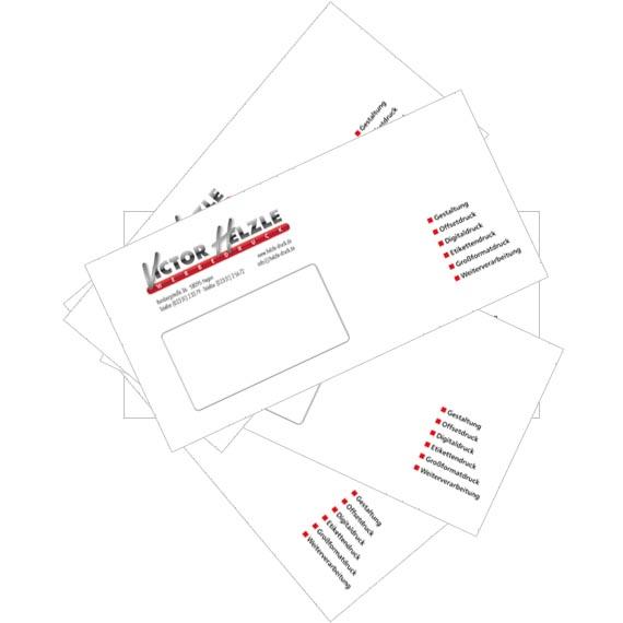 Bedruckte Briefumschläge