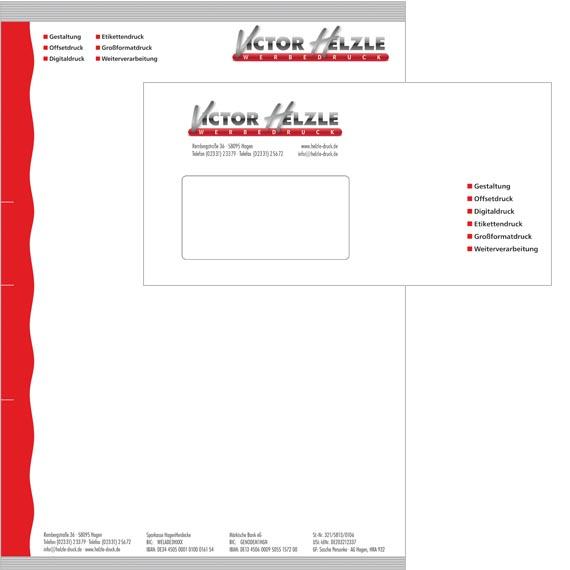 Briefbogen und Briefumschlag Muster